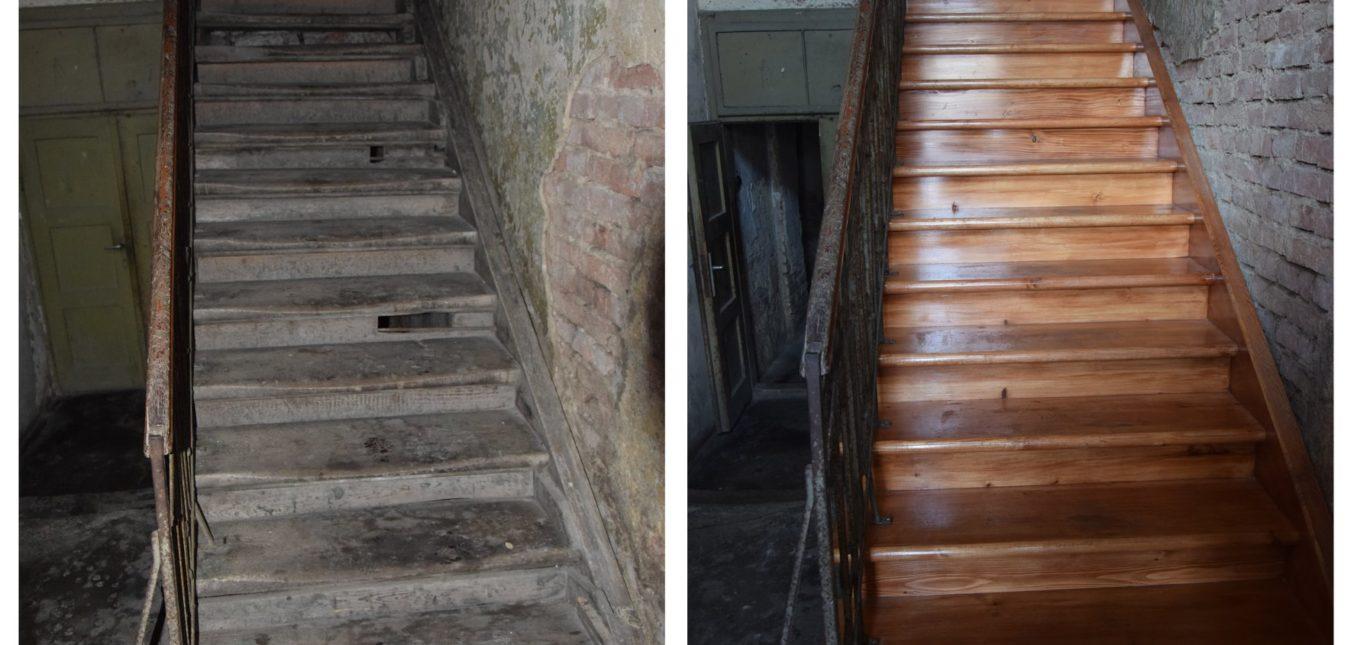 Nowe schody - budynek Lwowska 5