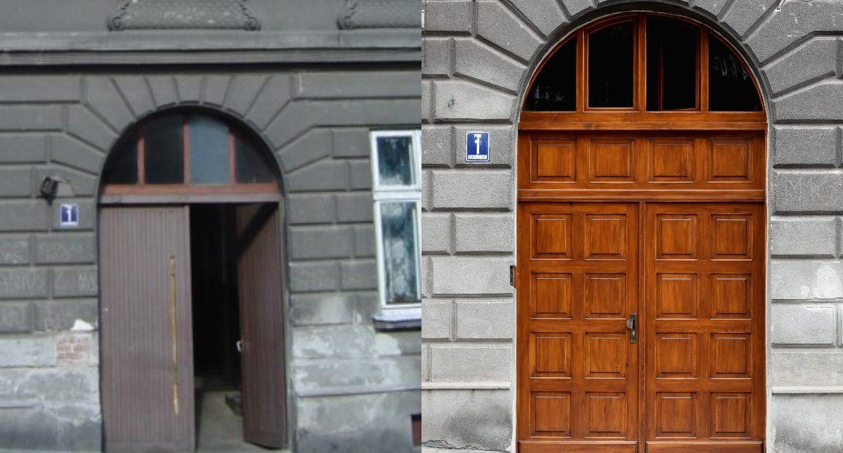 Brama drewniana - WM Łukasińskiego 1