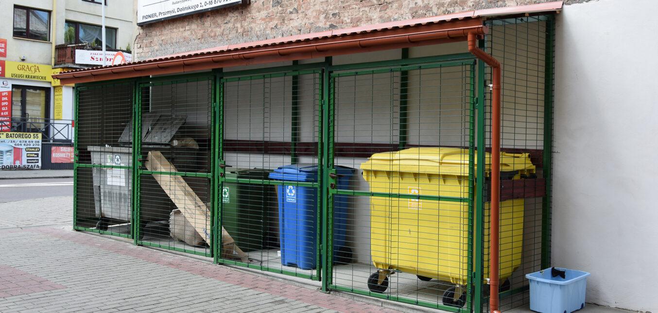 Wiaty na odpady komunalne